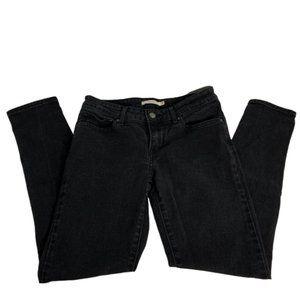 Levi's 711 Skinny Size 28 Waist Black Jeans -A1580